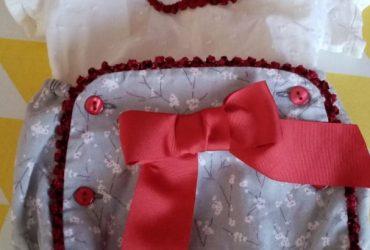traje lazo rojo-puesto 2 veces en perfecto estado